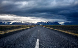 Winding mountain road, Iceland Royalty Free Stock Photos