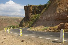 Winding mountain road leading to Bahir Dar, Ethiopia. Stock Photography