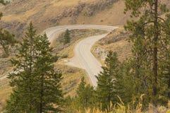 Winding Mountain Road near Osoyoos British Columbia Canada Stock Photo