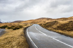 Winding Mountain Road on a Rainy Day Royalty Free Stock Images