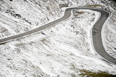 Winding mountain road Royalty Free Stock Photos