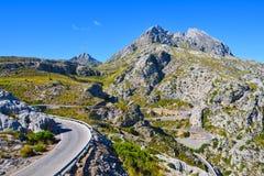 Winding narrow mountain road Royalty Free Stock Photo