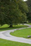 Winding Path in Castle Fraser Royalty Free Stock Photo