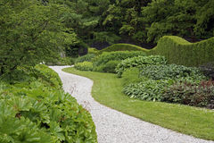 Winding path in a garden Royalty Free Stock Photo