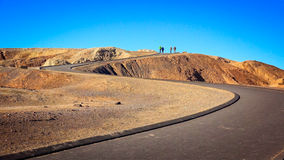 Winding Path Leads to Zabriskie Point in Death Valley Stock Photos
