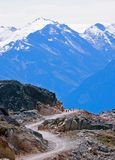 Winding path into mountains Royalty Free Stock Image