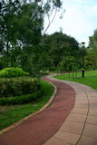 Winding path in park Royalty Free Stock Photo