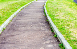 Winding path in the park Stock Image