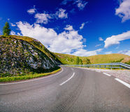 Winding Paved Road in the French Alps Royalty Free Stock Images