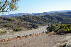 Winding paved road in the Spain Royalty Free Stock Images