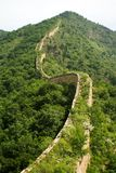 The winding profile of the great wall Stock Photo