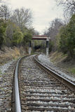 Winding railroad track Stock Image