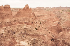 Winding River Bed | Badlands National Park, South Dakota, USA Royalty Free Stock Photos