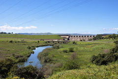 Winding River Below the Wall of Midmar Dam, Howick Stock Images