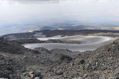 Volcanic landscape. The volcanic landscape, Mount Etna, Sicily royalty free stock photography