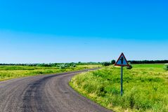 A winding road Stock Photos