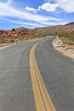 Winding Road. In Valley of Fire State Park, Nevada, USA royalty free stock photography