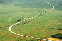 Winding road. The Winding road in field royalty free stock photography