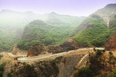 Winding road. The road in the mountins west of beijing Stock Photo