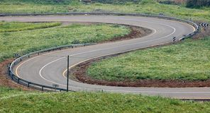 The Winding Road. Stock Photo