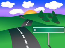 Winding road royalty free illustration