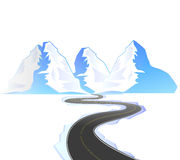 Winding road. Illustration of a winding road and winding road Royalty Free Stock Photography