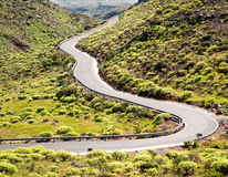 Winding road. At grand canary Stock Photography