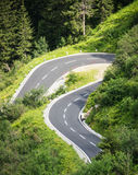 Winding road. At the silvretta-lake in austria - nice background Stock Photography