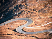 Winding road. Beautiful winding road at the grossglockner mountain in austria Royalty Free Stock Photos