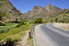 Winding road. A drive on the countryside in South Africa Stock Photo
