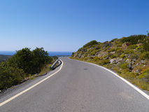 Winding road. A winding road on crete royalty free stock image