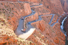 Winding road. In Atlas Mountains, Morocco Stock Image