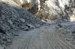 Winding road nubra Valley,Leh.  Royalty Free Stock Images