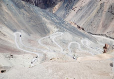 Winding road ahead. A winding road in Ladakh, India Royalty Free Stock Photography