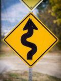 Winding road ahead Royalty Free Stock Photos