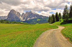 Winding road in Alps Royalty Free Stock Image