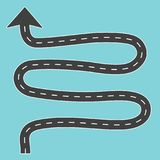 Winding road with arrow. Vector illustration vector illustration