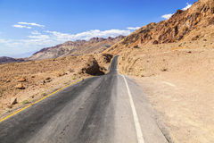 Winding road Artists drive in Death Valley Royalty Free Stock Photo