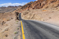 Winding road Artists drive in Death Valley Stock Photos