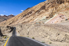 Winding road Artists drive in Death Valley Royalty Free Stock Image