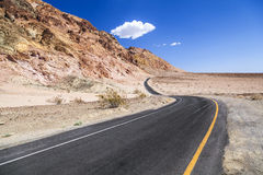 Winding road Artists drive in the Death Valley Royalty Free Stock Photography
