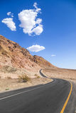 Winding road Artists drive in the Death Valley Stock Images