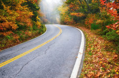 Winding road in autumn Royalty Free Stock Images