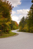 Winding Road During Autumn Season Royalty Free Stock Images