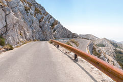 Winding road in Biokovo mountains. Royalty Free Stock Image