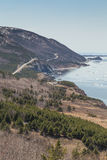 Winding Road at Cabot Trail Vertical Stock Images