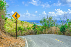 Winding Road in the Caribbean Stock Images