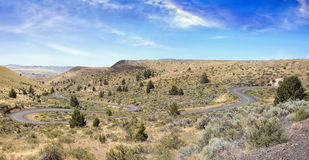 Winding Road in Central Oregon Panorama Stock Image