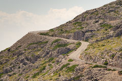 Winding road on cliff Royalty Free Stock Photos