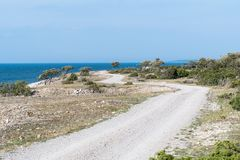 Winding road in a coastal landscape Royalty Free Stock Photography